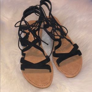 Strap up sandals